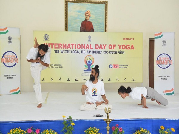 A Yoga session in Nepal.
