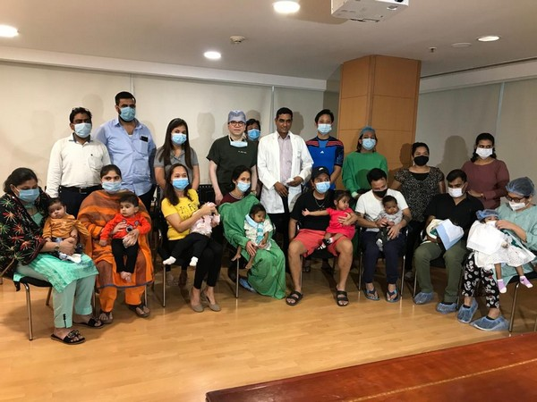 Ten children including some from foreign countries underwent a liver transplant at Saket's Max Healthcare Hospital. [Photo/ANI]