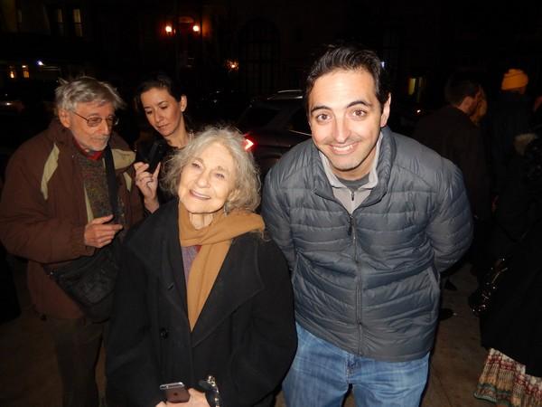 Actor Lynn Cohen (Left)