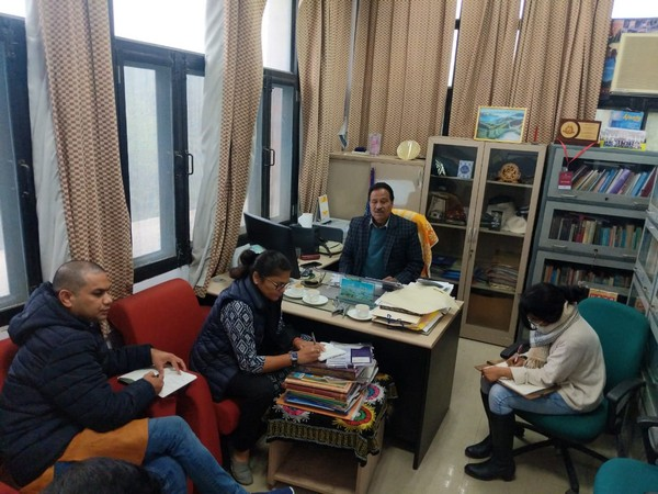 A INC fact-finding committee visited JNU campus on Wednesday. Photo/ANI