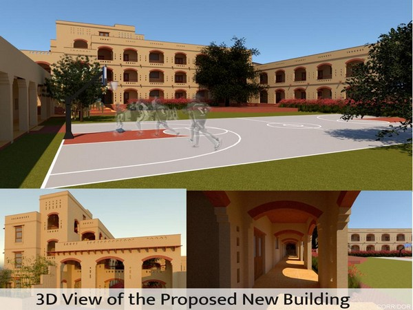 3D view of the proposed new building