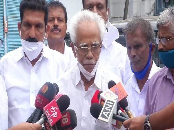 NCP Kerala State President, TP Peethambaran (Photo/ANI)