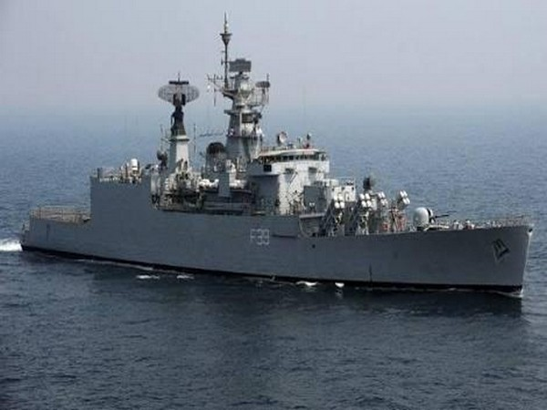 File pic of the INS Betwa warship which met with an accident three years ago