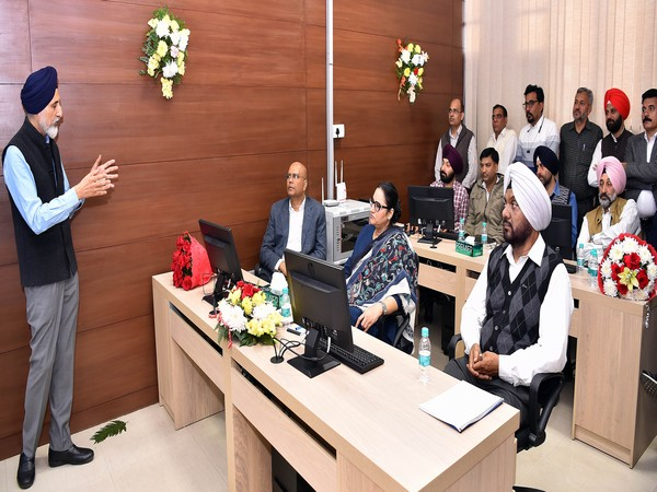 Punjab Transport Minister Razia Sultana during the meeting with officials in Chandigarh on Wednesday. Photo/ANI