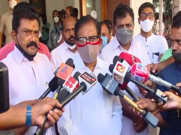 G Parameshwara speaking to reporters in Thiruvananthapuram on Saturday. Photo/ANI