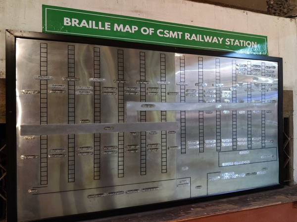 Braille map of CSMT Railway Station in Mumbai