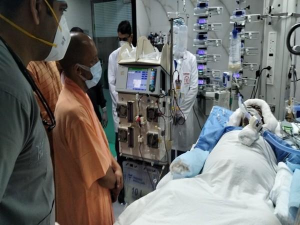 Chief Minister Yogi Adityanath visits Kalyan Singh at SGPGIMS in Lucknow