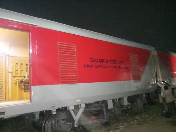 South Central Railway introduced new high-capacity Linke Hoffman Busch (LHB) parcel vans. (Photo/ANI)