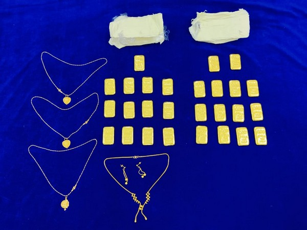 Gold seized by the Air Intelligence Unit.