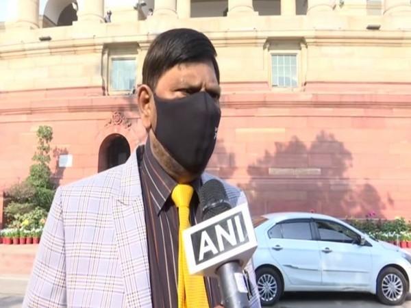 Rajya Sabha MP Ramdas Athawale speaking to ANI in New Delhi on Wednesday.