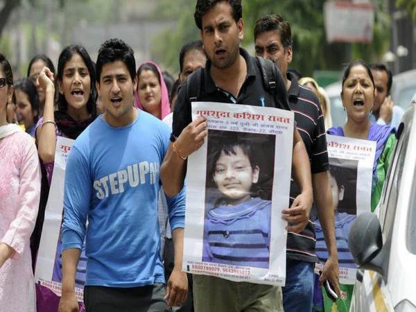 The kin protesting after the girl was kidnapped in 2016. (File photo/ANI)