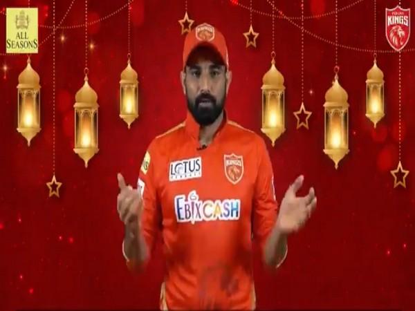Punjab Kings pacer Mohammed Shami. (Photo/ Punjab Kings twitter grab)