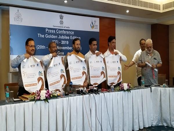 Union Minister Prakash Javadekar an other members of IFFI steering committee after their meeting in Panaji, Goa