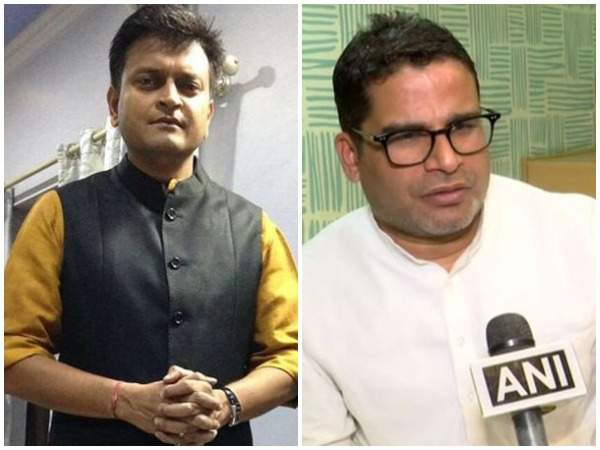 JDU leaders Ajay Alok (left) and Prashant Kishor (right)