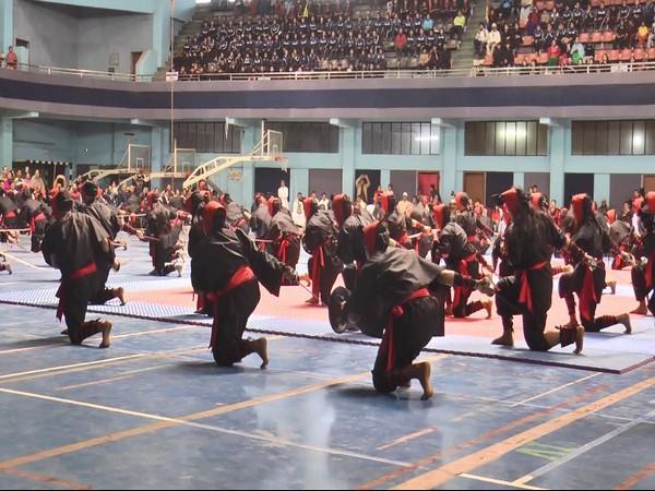 Women performing Martial Arts at 'Thang-ta Meet 2020' in Manipur