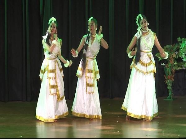 Participants performing dance-drama 'Abhigyan Shakuntalam'