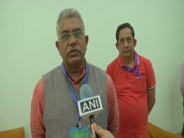 West Bengal BJP President Dilip Ghosh speaks to ANI in Balurghat on Friday. [Photo/ANI]