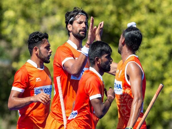 India celebrate after scoring goal against Argentina (Photo/ Hockey India)