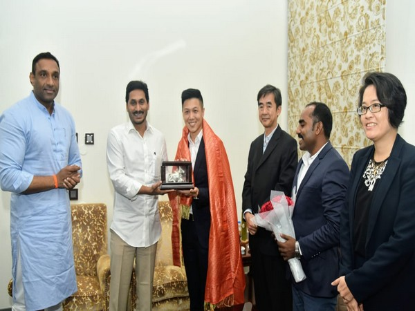 The delegation of Hong Kong-based Intelligent SEZ development Limited meets Andhra Pradesh Chief Minister YS Jagan Mohan Reddy in Tadepalli on Wednesday.