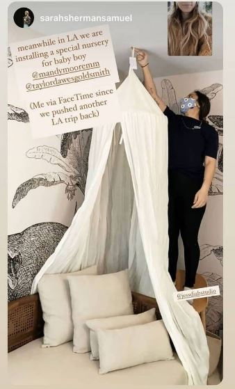 Image result for Mandy Moore Sets up a Gorgeous Nursery for Her First Baby