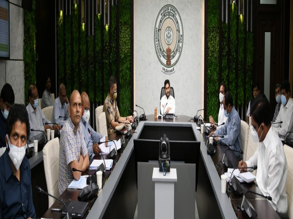 Andhra Pradesh Chief Minister YS Jaganmohan Reddy holding a review meeting on Monday