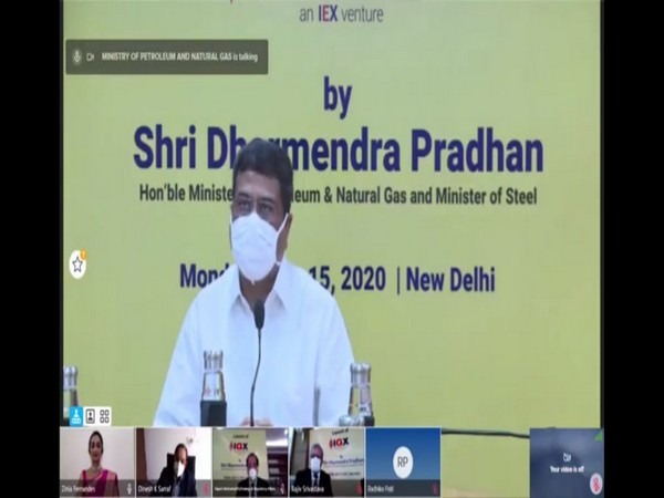 Union Minister of Petroleum and Natural Gas Dharmendra Pradhan speaking at the IGX Launch on Monday in New Delhi (Photo/ANI)
