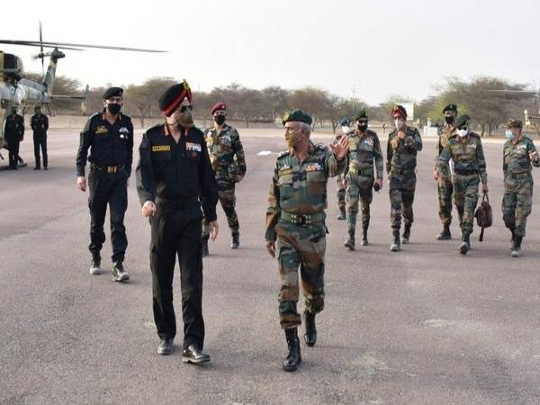 General Officer Commanding-in-Chief of the Sapta Shakti Command Lieutenant General AS Bhinder.