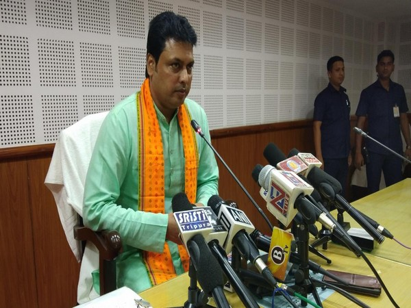 Tripura Chief Minister Biplab Kumar Deb. Photo/ANI