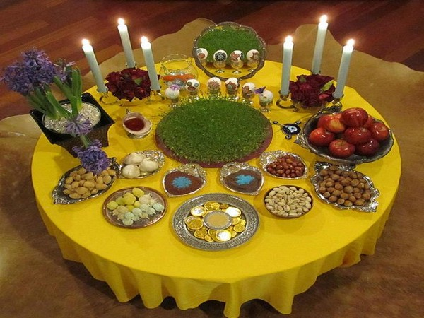 The 'Haft Seen' table decorated on Navroz