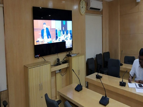 Cabinet Secretary Rajiv Gauba met Odisha government officials over video conferencing to review preparedness for Cyclone bulbul. Photo/ANI