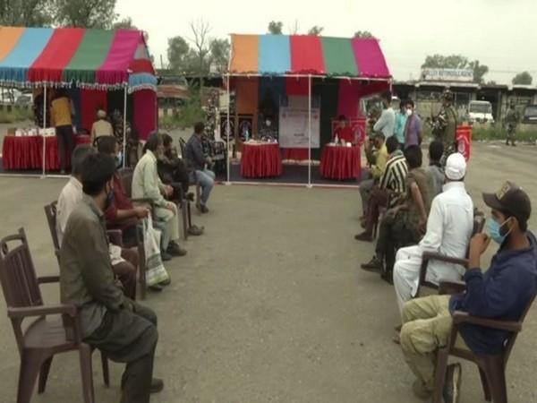 CRPF organised a free medical camp in Srinagar's Batamaloo on Thursday. [Photo/ANI]