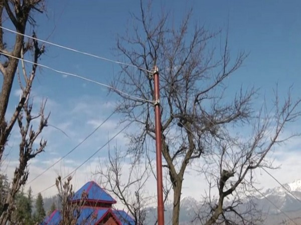 Jammu and Kashmir's Tanta village received electricity for the first time on Sunday [Photo/ANI]