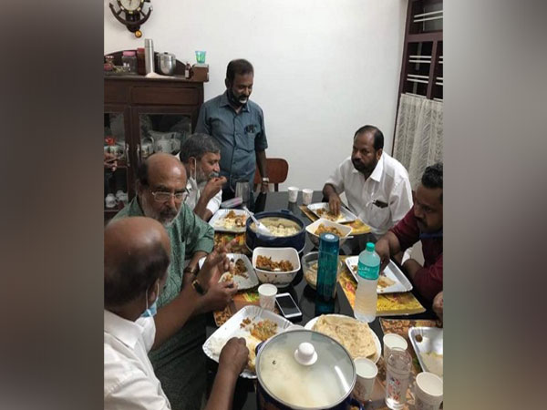 Kerala Finance Minister and CPI-M leader Thomas Isaac and others at alleged dinner