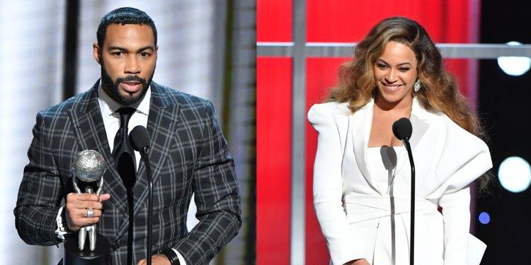 Omari Hardwick and Beyonce at NAACP Awards