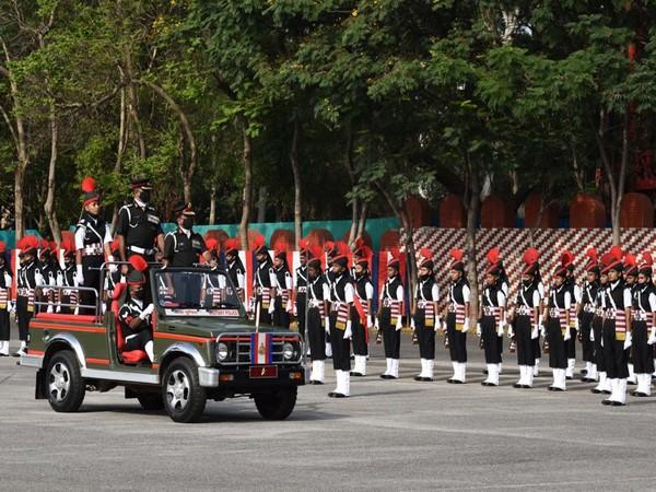 The parade at the Dronacharya Parade Ground in Bengaluru. (Photo/ANI)
