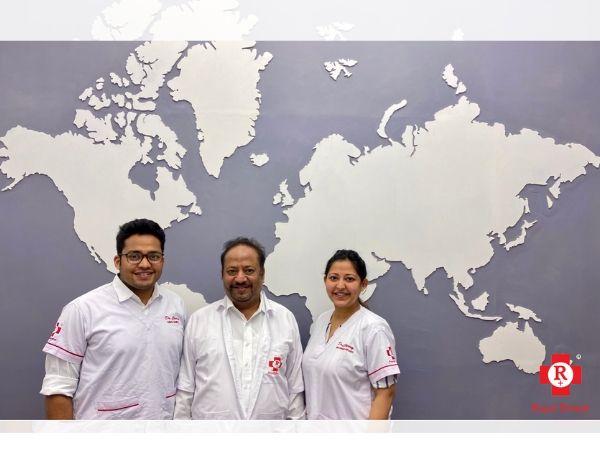 L-R: Dr Chirag Chamria, Dr Arun Chamria, Dr Cherry Sureka Chamria