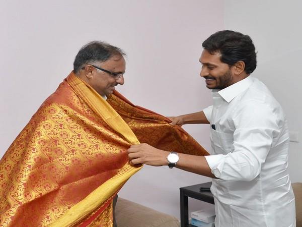 Jagan Reddy met acting chief justice of Andhra Pradesh High Court Justice C Praveen Kumaron Tuesday
