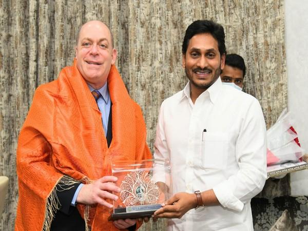 Consul General Joel Reifman and Andhra Pradesh Chief Minister YS Jagan Mohan Reddy