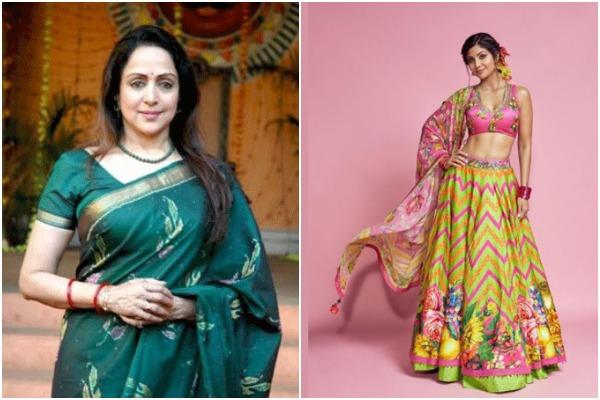 Hema Malini and Shilpa Shetty