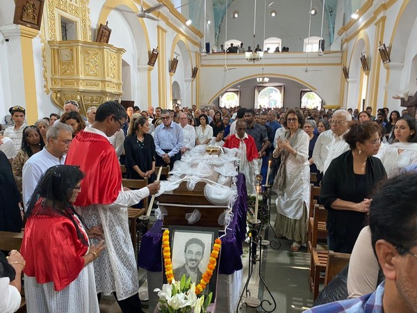 Indian fashion designer Wendell Rodricks' funeral ceremony in his ancestral village of Colvale