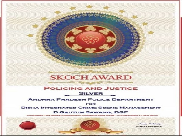 Andhra Pradesh Police won 48 awards in different categories of SKOCH awards