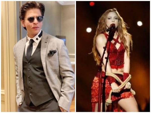 Shah Rukh Khan and Shakira (Image courtesy: Instagram)