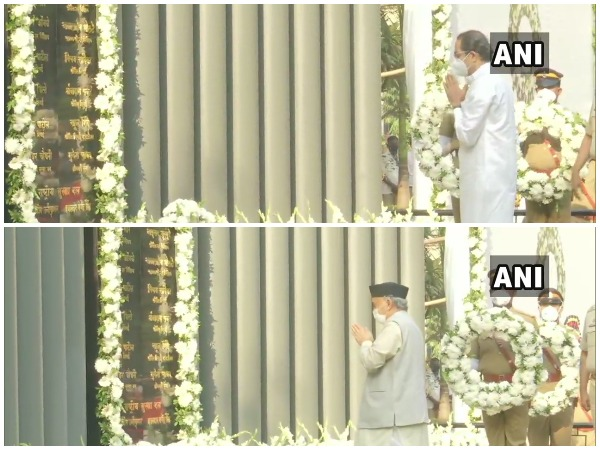 Maharastra Governor Bhagat Singh Koshyari and Chief Minister Uddhav Thackeray pay homage to victims of the 26/11 terror attack on its 12th anniversary.