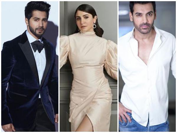 Varun Dhawan, Anushka Sharma, John Abraham(Image courtesy: Instagram)
