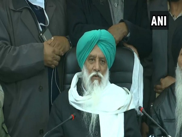 BKU (R) President Balbir Singh Rajewal addresses a press conference on Saturday. [Photo/ANI]