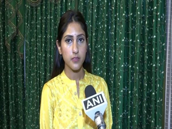 Congress MLA Aditi Singh speaking to ANI in Lucknow on Wednesday. [Photo/ANI]