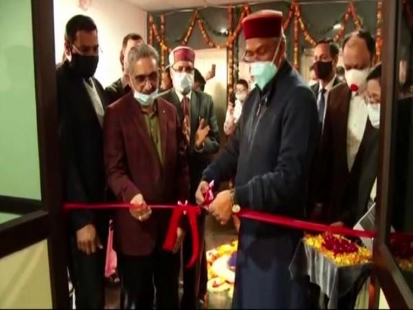 Uttarakhand Chief Minister Trivendra Singh Rawat inaugurates ICU at Gandhi Shatabdi Eye Hospital in Dehradun. [Photo/ANI]