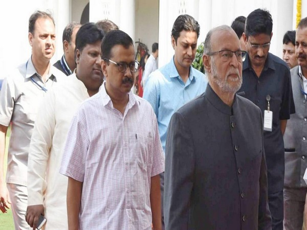 Delhi Lieutenant governor Anil Baijal with Delhi Chief Minister Arvind Kejriwal (left) (Photo/ANI)