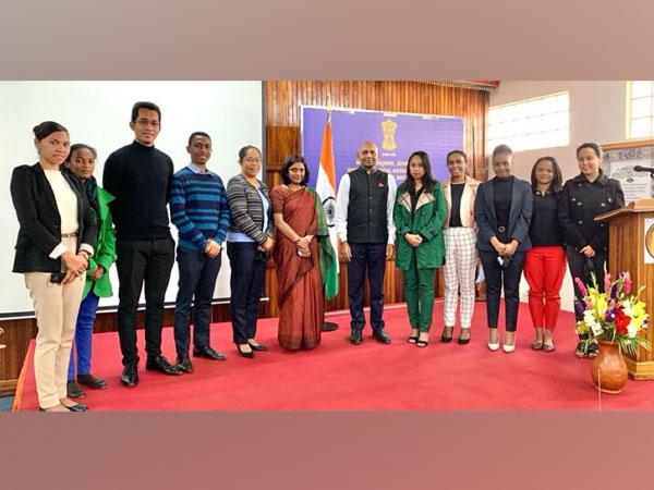 Ambassador Abhay Kumar met young Malagasy diplomats