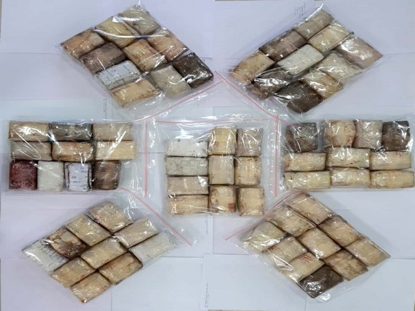 Cache of Narcotics substances caught hold of by STF on Saturday. Photo/ANI